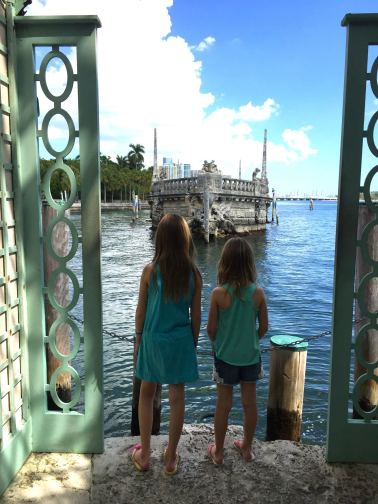 Discovering the outdoors at the Vizcaya estate in Coconut Grove Miami.