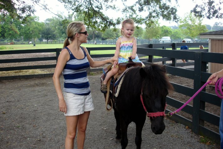 Pony riding at Lawton Stables on Hilston Head island in South Carolina.
