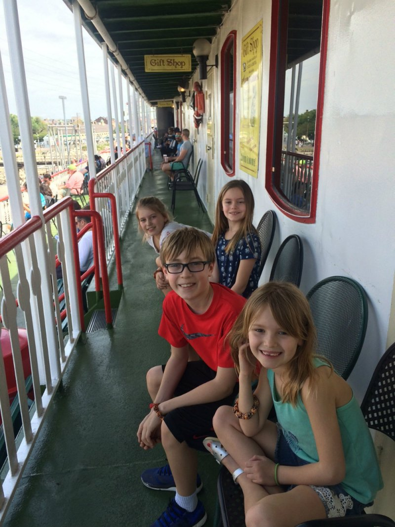 Taking a ride on the Steamboat Natchez in New Orleans.