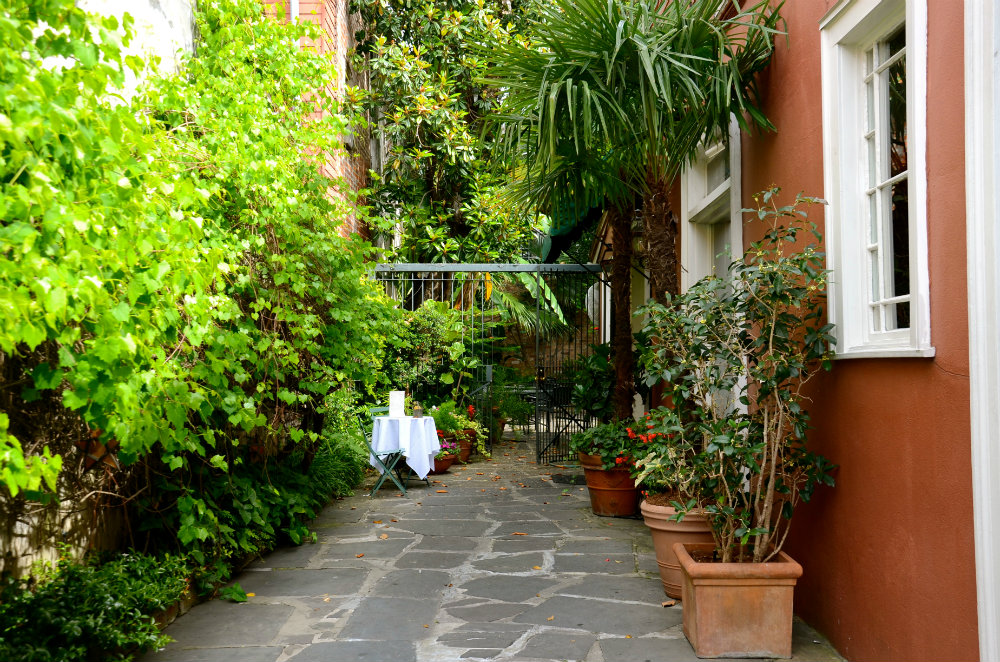 Courtyard in the French Quarter in New Orleans.
