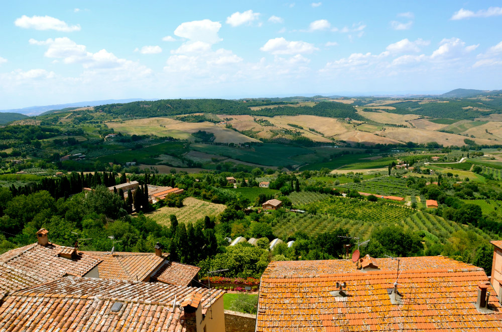 View of Montepulciano in Tuscany
