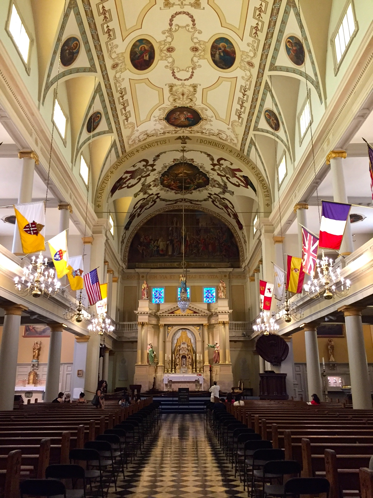 Inside the St. Louis Cathedral in the French Quarter in New Orleans.
