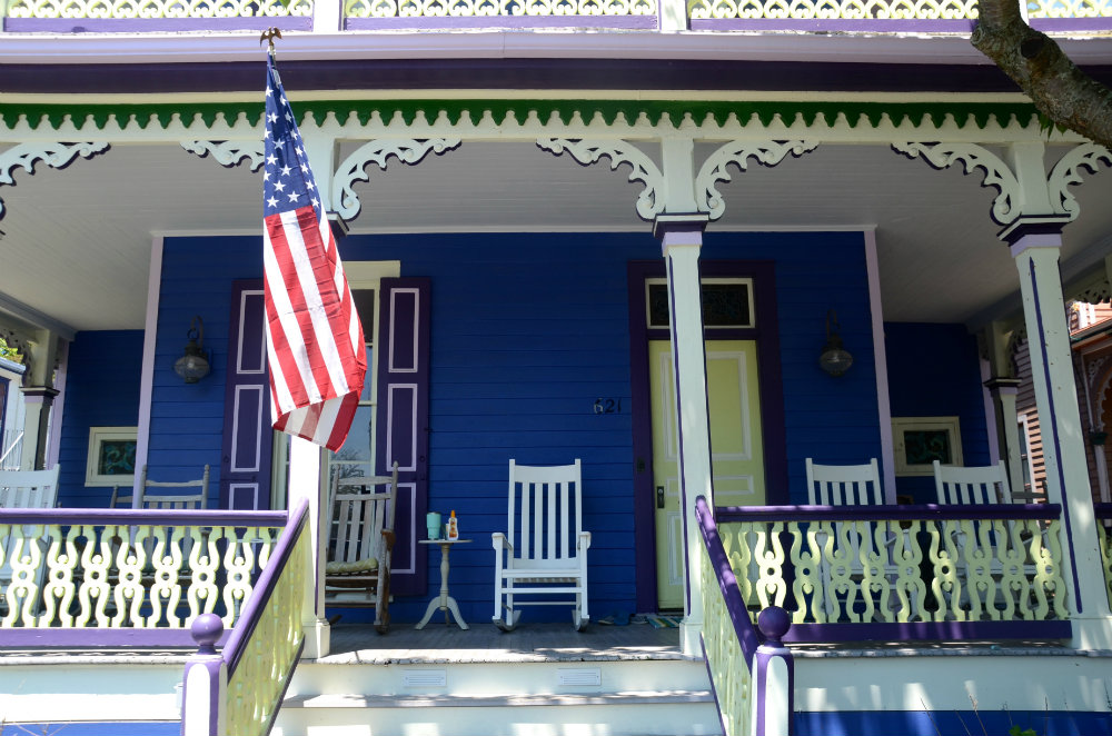 Walking around Cape May, New Jersey and looking at all the front porches.