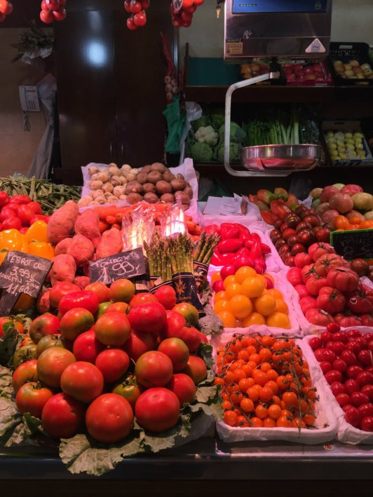 Shopping at the Santa Caterina market in El Born.