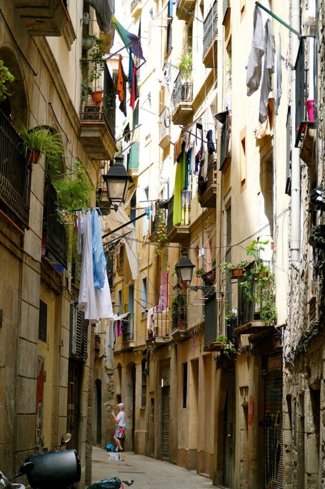 Walking through the narrow streets of El Born