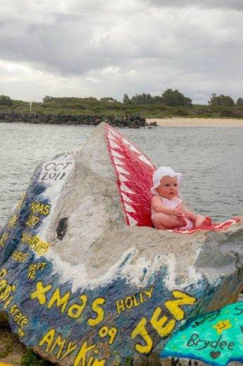 Baby in a shark in Australia!