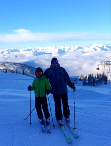 Skiing at Whistler in Canada.