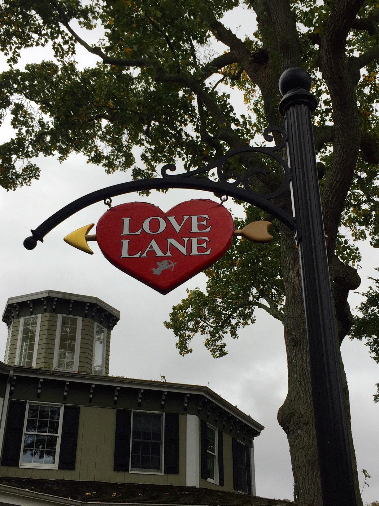 Love Lane in Mattituck, North Fork, Long Island