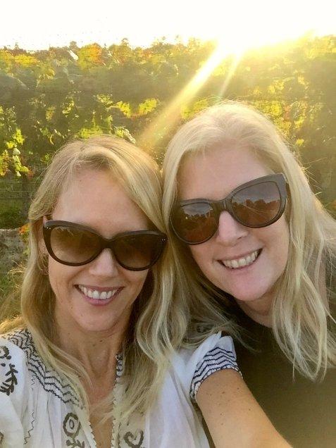 Selfie at Crotaeux vineyards.