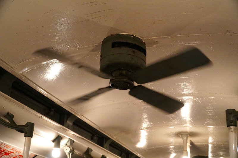 Ceiling fan on the Holiday Nostalgia Train in New York City