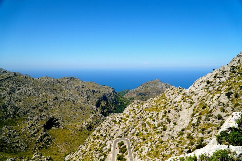 Driving the road to Sa Calobra in Mallorca.