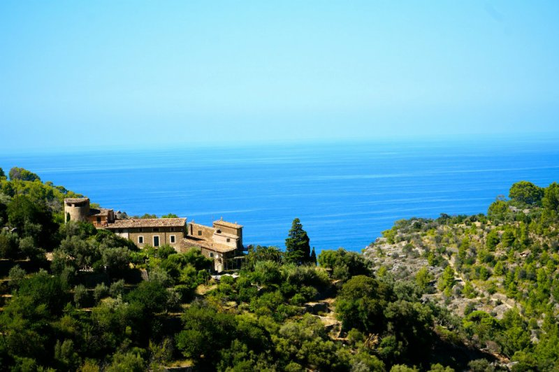 View of the sea in Deia in Mallorca