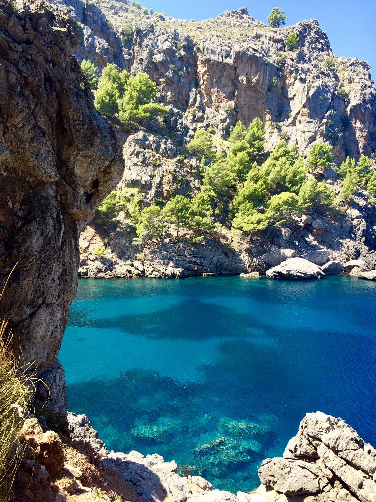Walking through the cliffs in Western Mallorca.