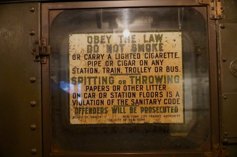 Vintage advertisements on the holiday nostalgia train in New York City