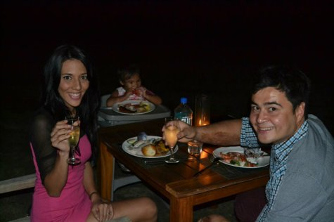 Dinner festival on island family escape to Fiji