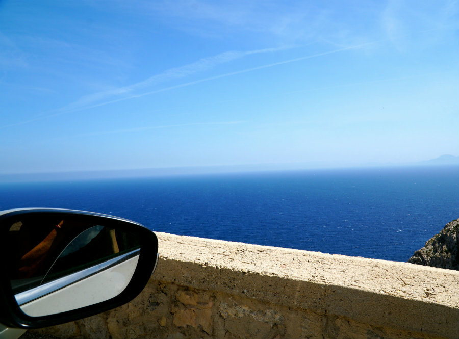 Looking out the window on the drive to Cap de Formentor