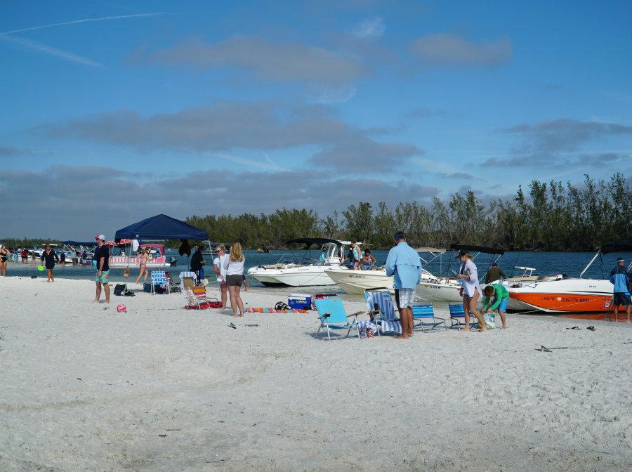 Boat life on Keewaydin Island in Florida