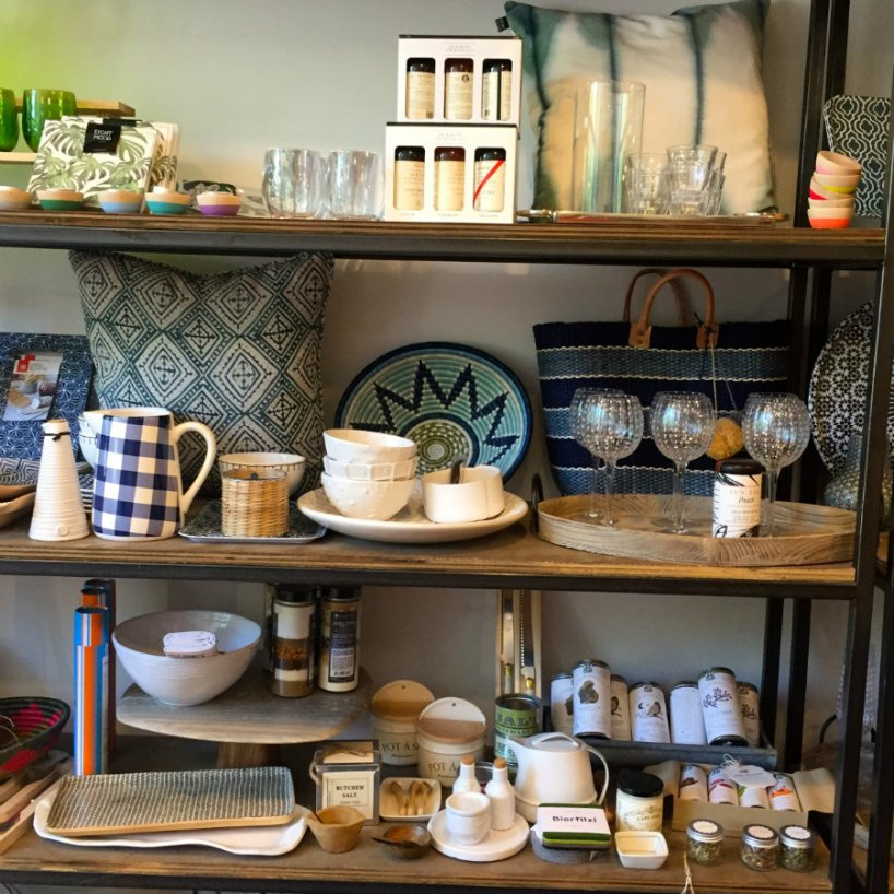 Looking at home goods at Village Mercantile in Larchmont, NY
