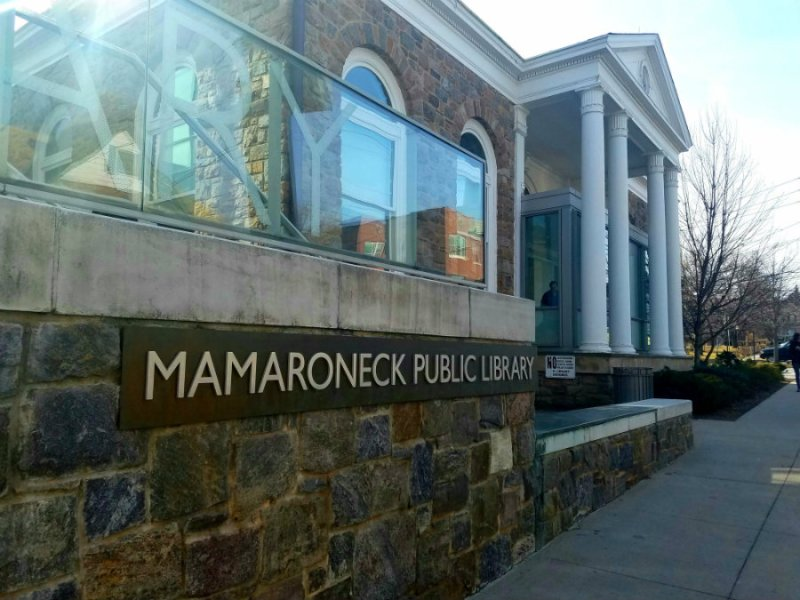 Spending time at the Mamaroneck Public Library in Mamaroneck, NY