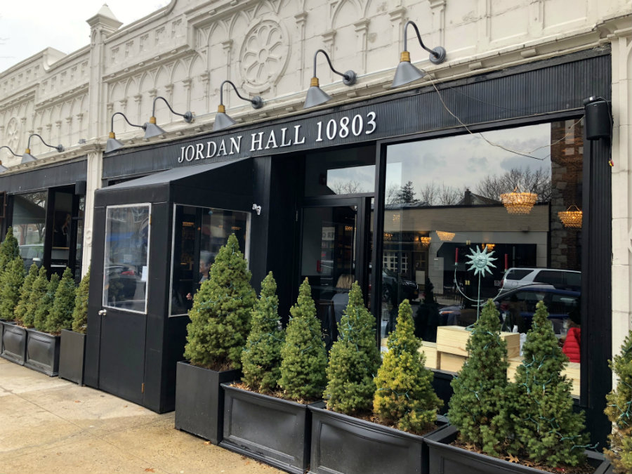 Dining at Jordan Hall restaurant in Pelham, NY