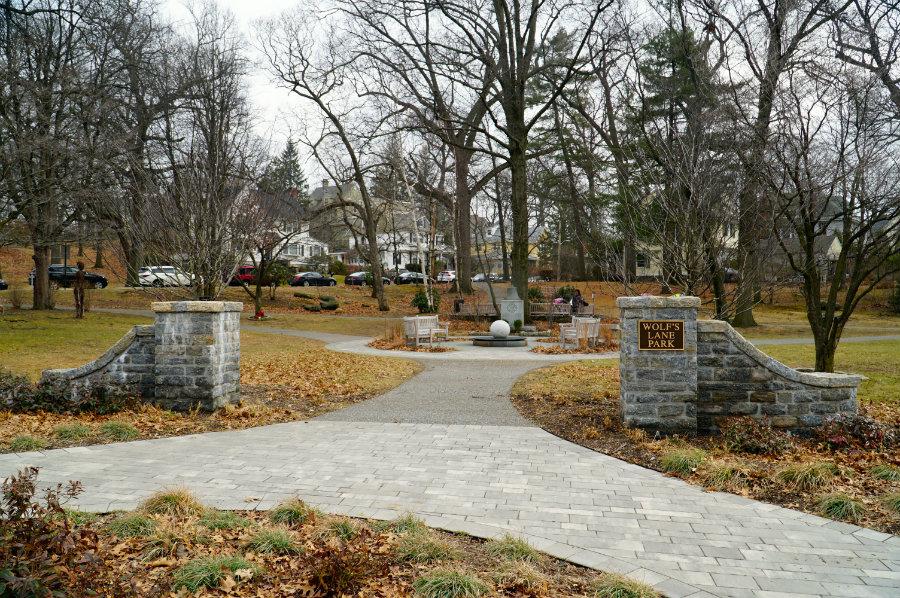 Taking a walk in Wolfs Lane Park in Pelham, NY