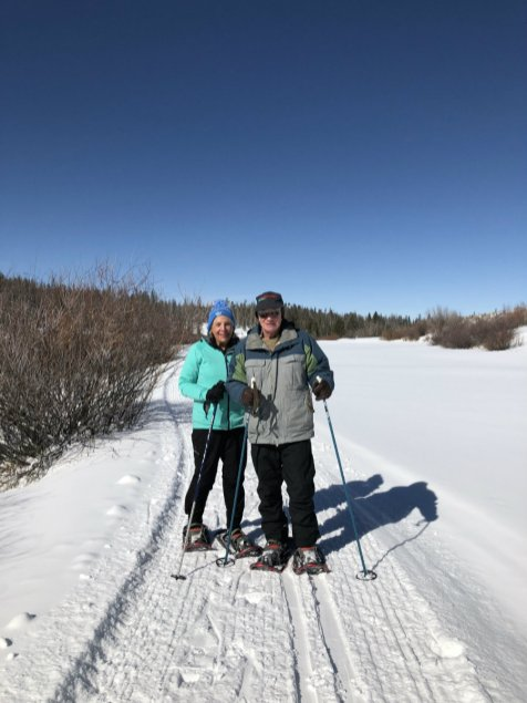 Snowshoeing in the Yampa Valley outside of Steamboat Springs, CO