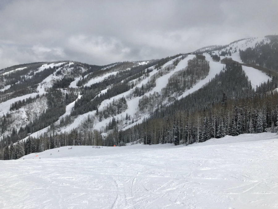 Skiing at Steamboat Springs ski resort in Colorado