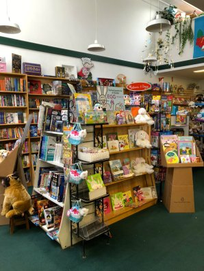 Shopping at the bookstore in Bronxville, NY