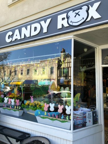 Shopping at Candy Rox in Bronxville in Westchester County, NY