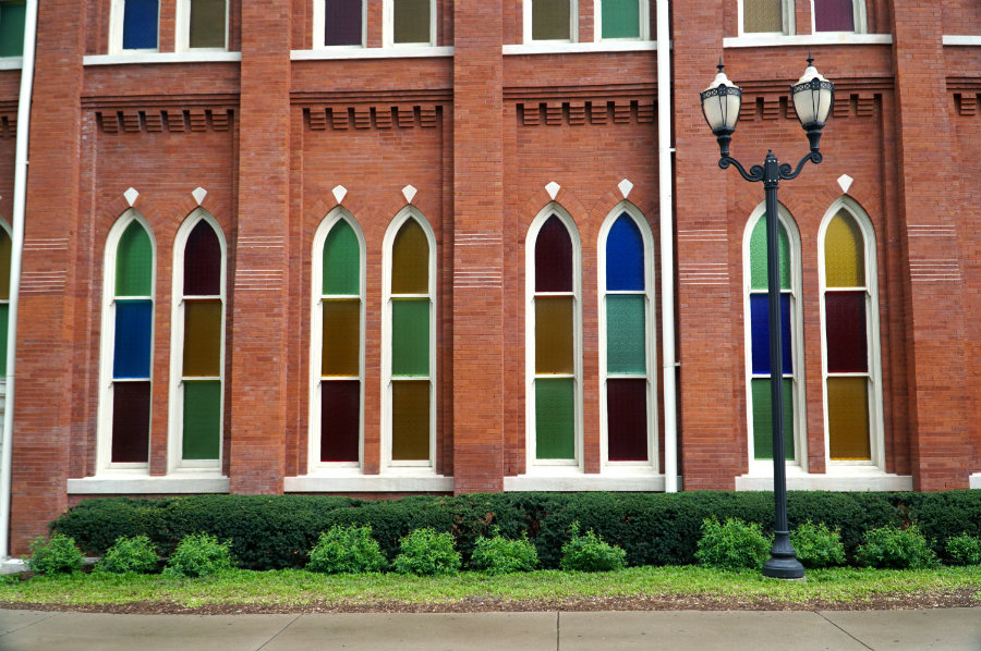 Beautiful windows at the Ryman Auditorium in Nashville