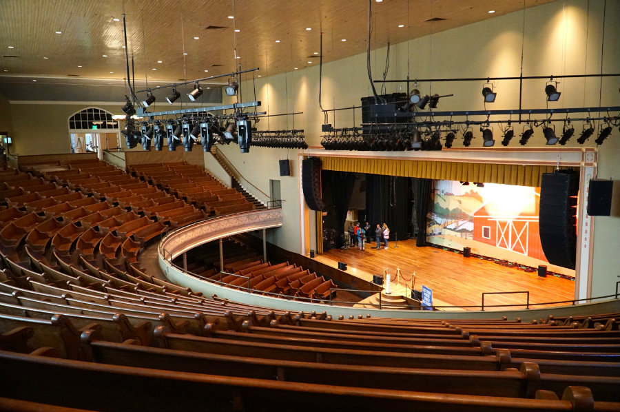 A tour of the Ryman Auditorium in Downtown Nashville