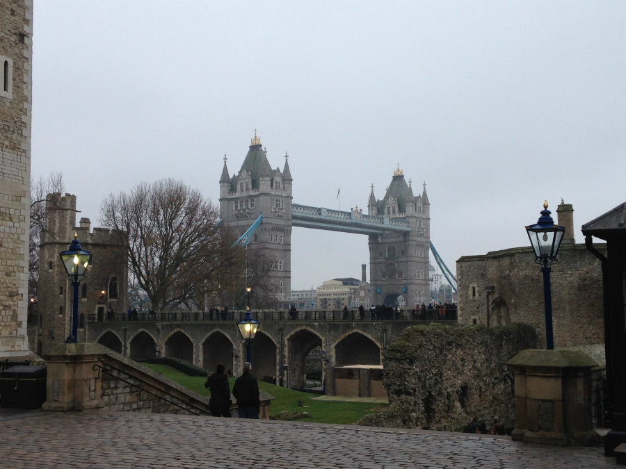 A visit to the Tower Bridge of London on a London family vacation