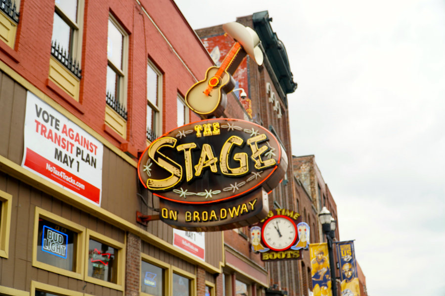 A walk on Broadway in Nashville, TN