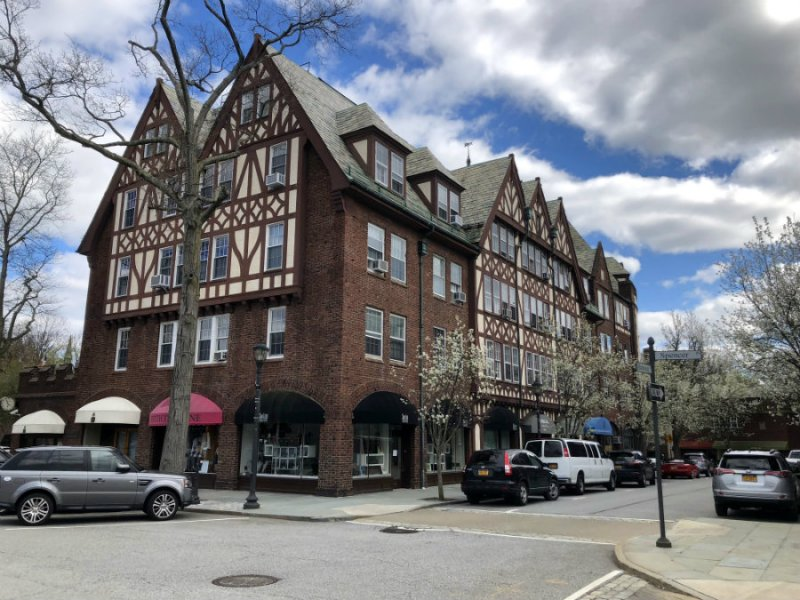 The tutor buildings in the village of Scarsdale