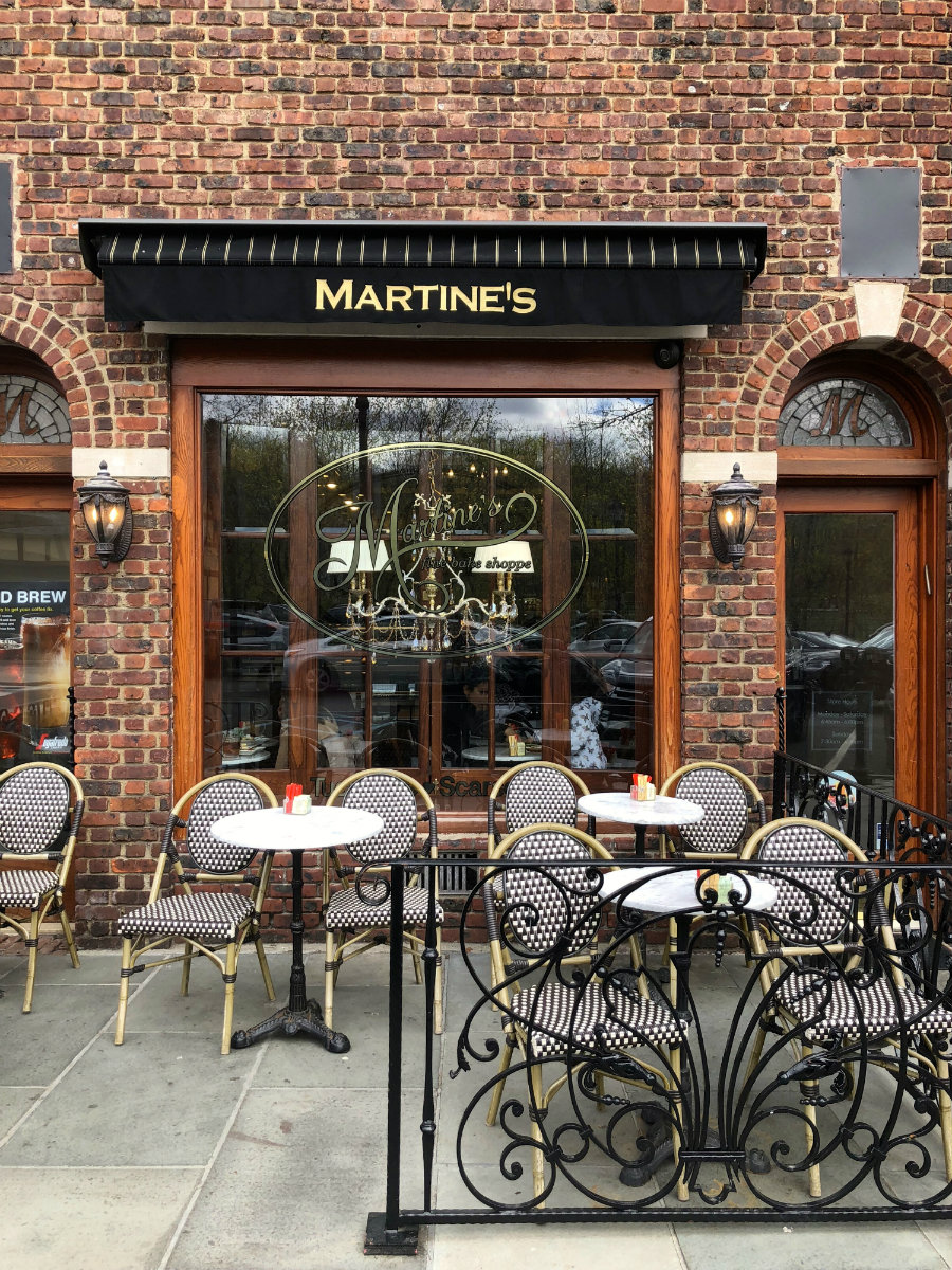 Dining at Martine's in the village of Scarsdale