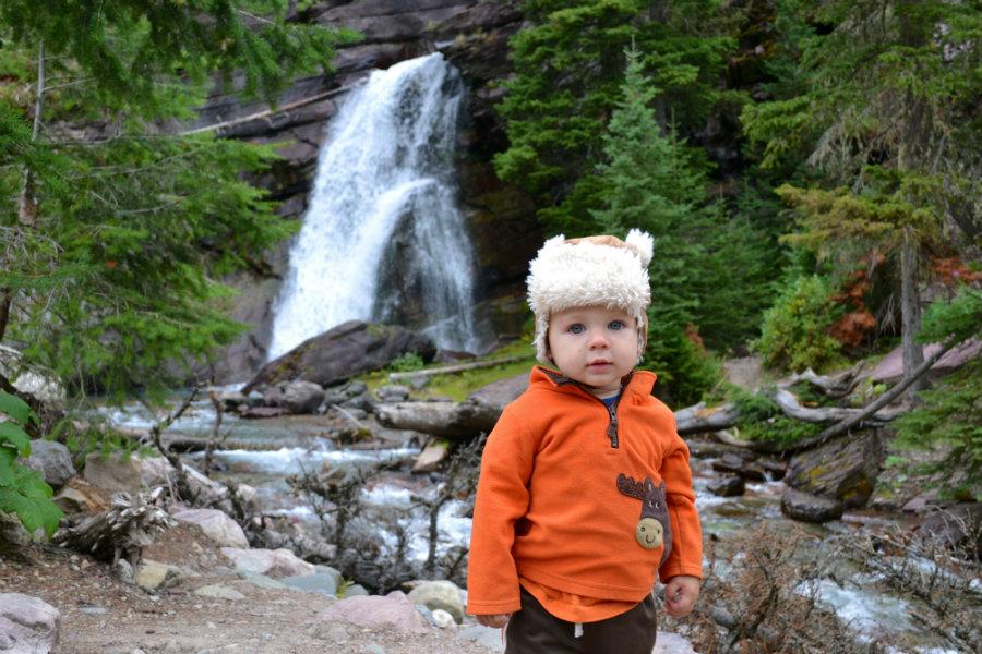 Glacier National Park family vacation, Baring Falls