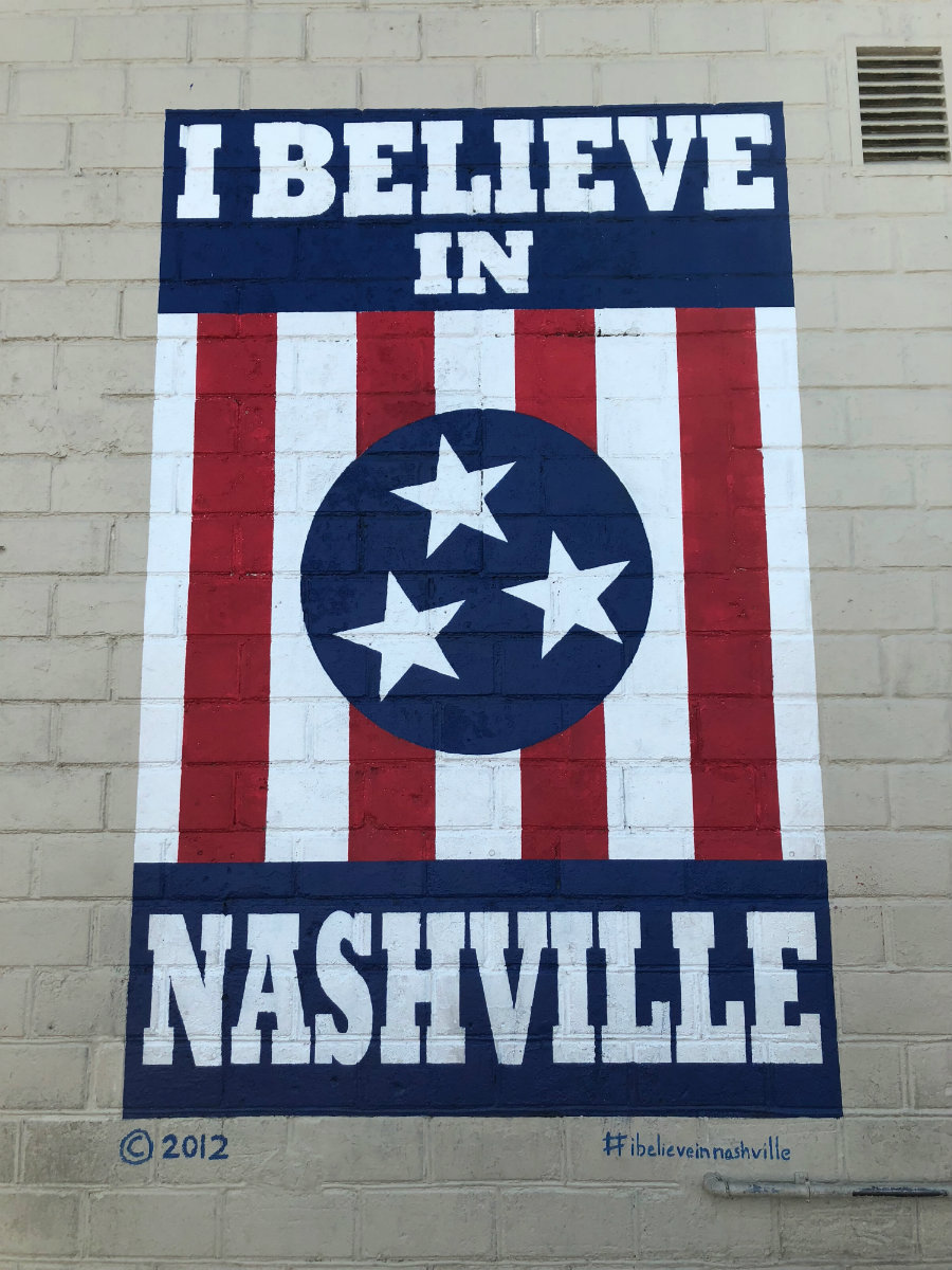 I believe in Nashville street art