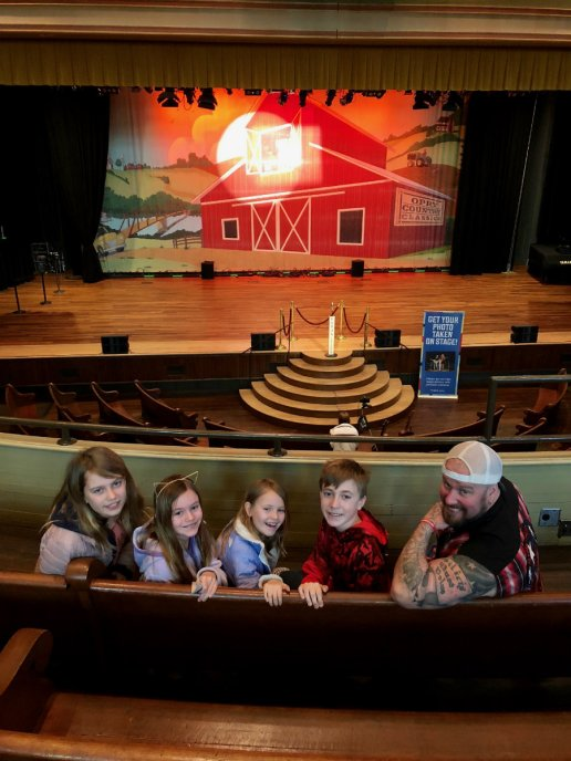 Ryman Auditorium in Nashville with kids