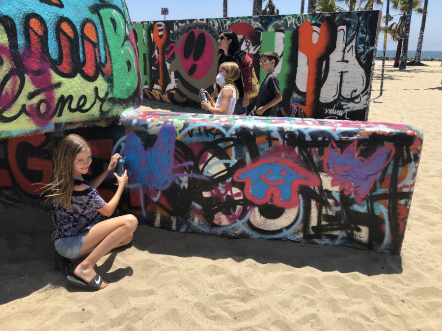 Venice Art Walls with kids