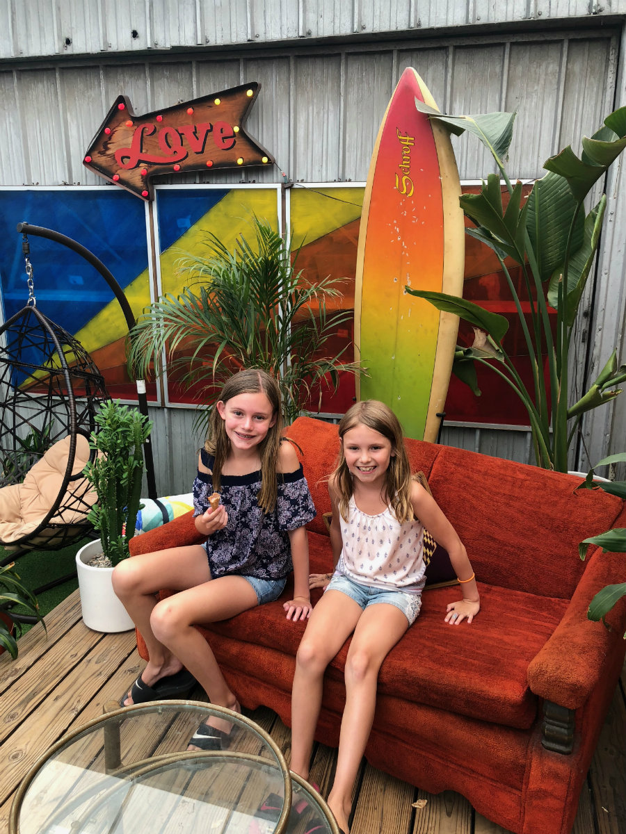 Having fun at Avatar Nation in Abbot Kinney in Venice Beach