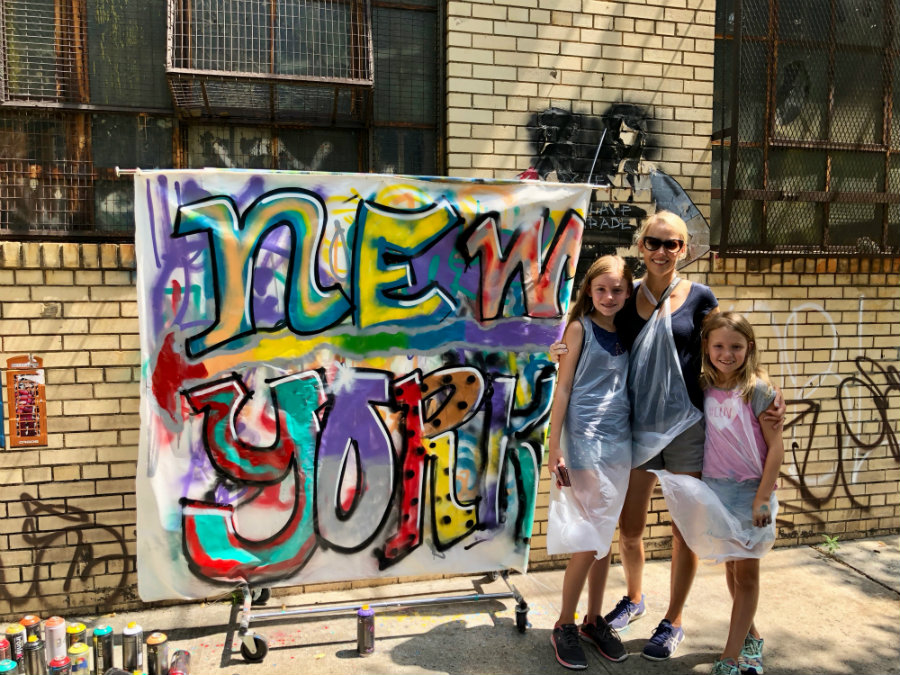 Our masterpiece with the Brooklyn graffiti workshop with Brooklyn Unplugged