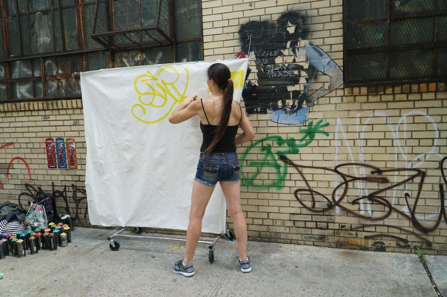 Brooklyn street art workshop with Brooklyn Unplugged