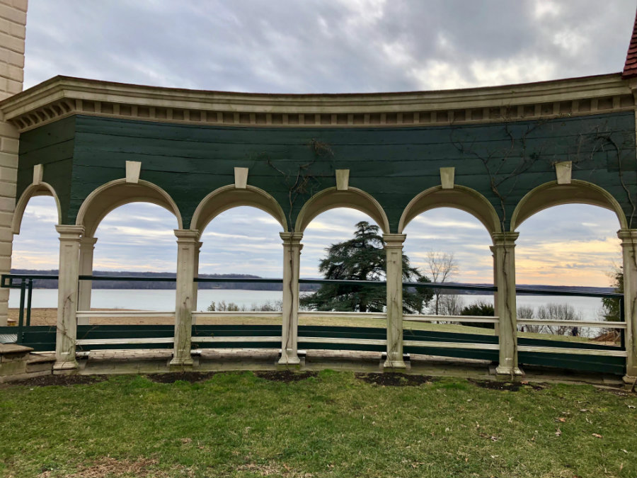 View of the Potomac River at George Washington's Mount Vernon