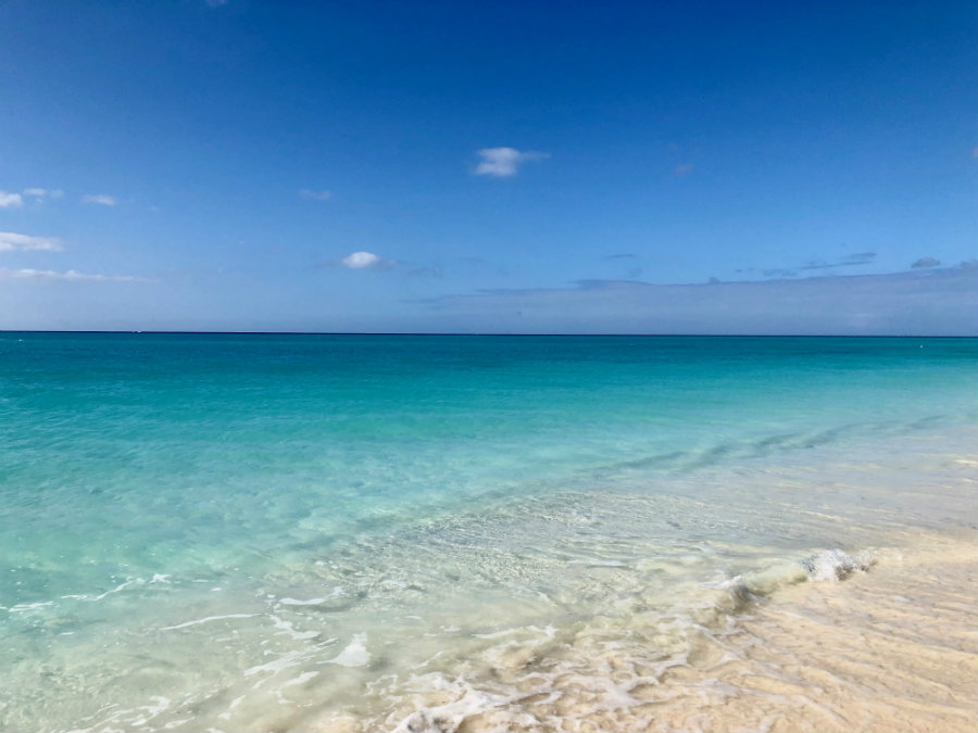 Grace Bay at Turks and Caicos, turquoise water
