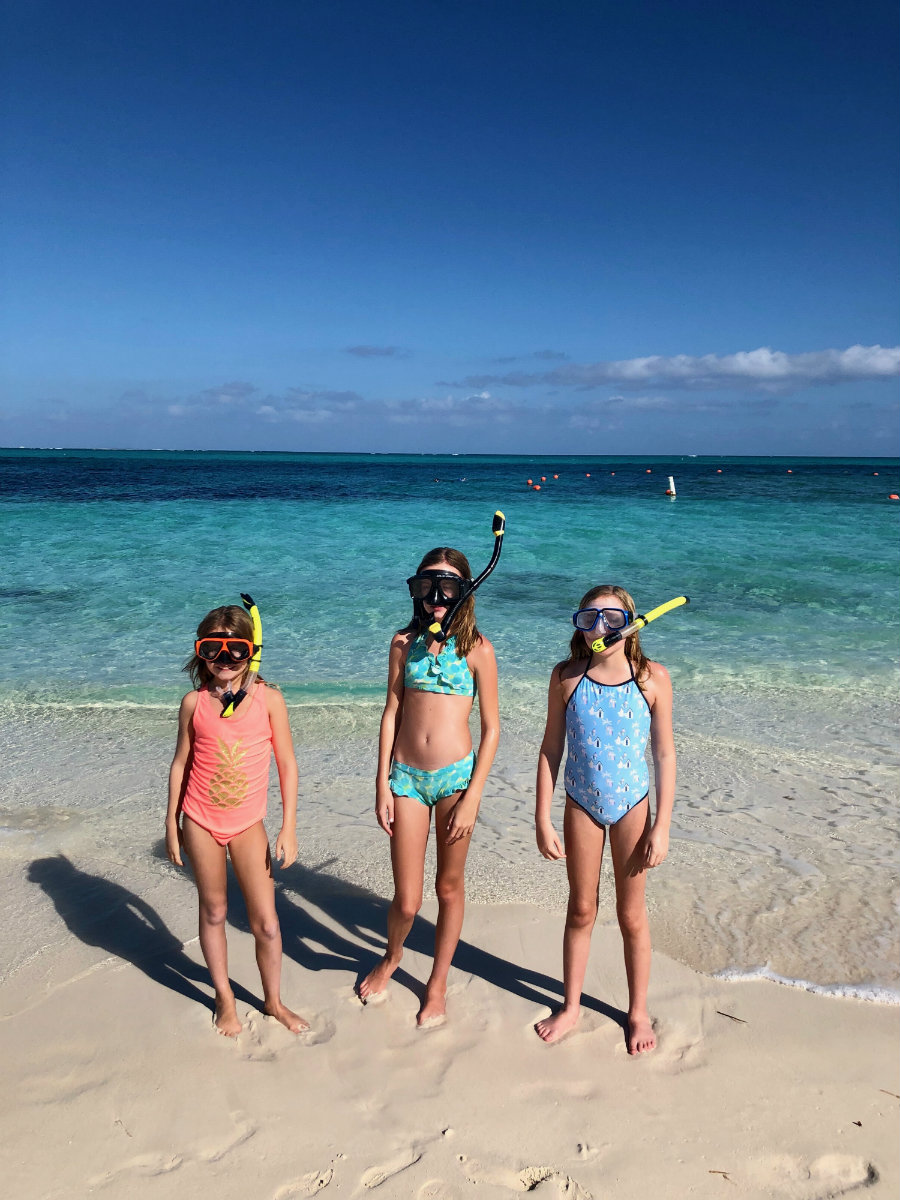 Snorkeling at Coral gardens in Turks and Caicos