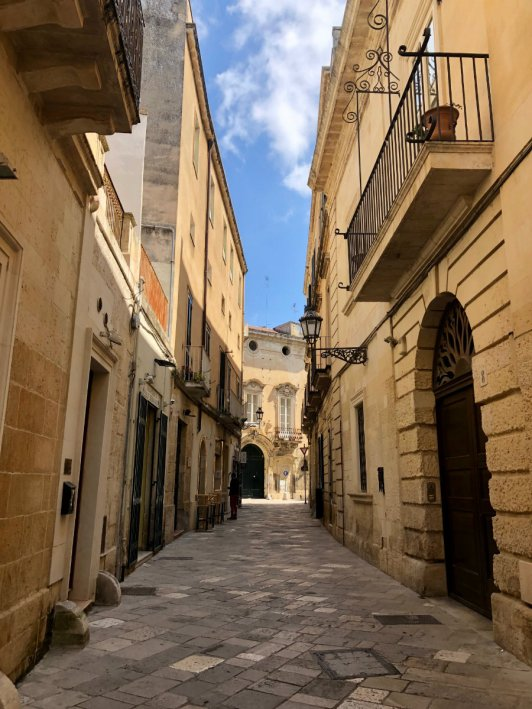 Along around Lecce in Puglia