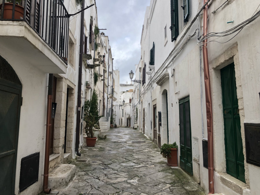 The white streets of Ostuni Puglia