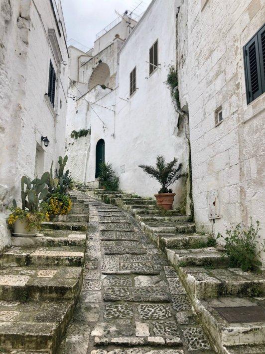 The staircases of Ostuni Puglia