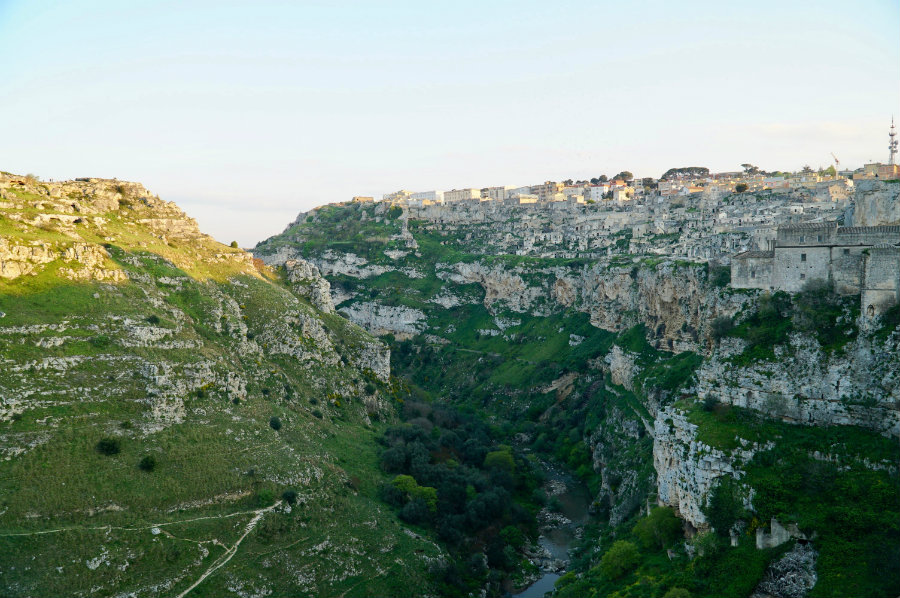 Matera Italy, ravine and gorge