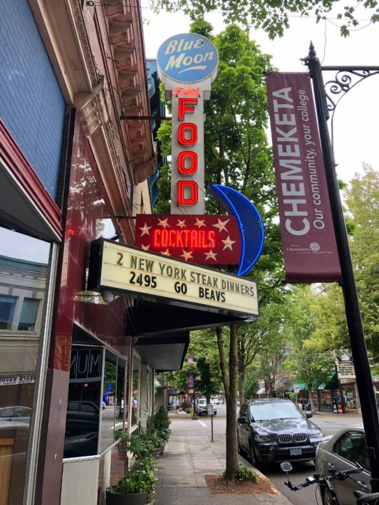 Strolling downtown McMinnville in Oregon